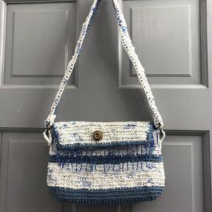 Handbags - Crocheted Yarn And Plastic Recycled Bag Purse